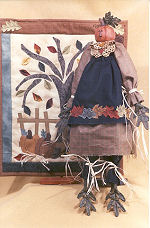 Collectible Cloth Doll - Autumn