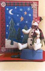 Collectible Cloth Doll - Icie - Snowman