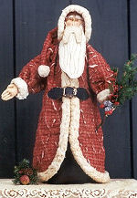 Collectible Cloth Doll - Tattered Santa