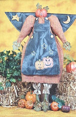 Collectible Cloth Doll - Pumpkin Angel