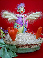 Collectible Cloth Doll - Easter Chick