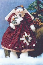 Collectible Cloth Doll - Snowflake - Snow Woman