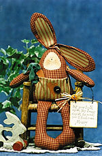 Collectible Cloth Doll - Tooth Fairy Bunny