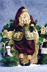 Collectible Cloth Doll - Nicholas - Santa
