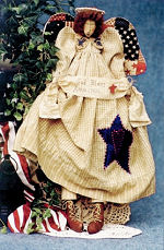 Collectible Cloth Doll - God Bless America - Angel