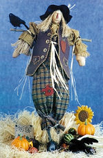 Collectible Cloth Doll - Ebeneezer - ScareCrow