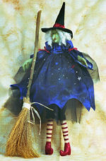 Collectible Cloth Doll - Ruby - Witch