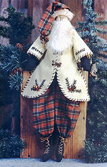 Collectible Cloth Doll - Woodland Santa