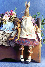 Collectible Cloth Doll - Harriet - Bunny